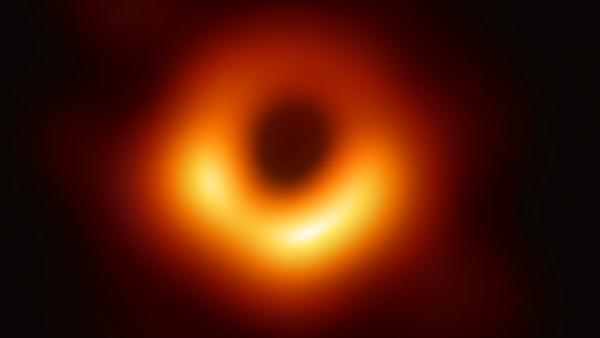 The first image of a black hole.