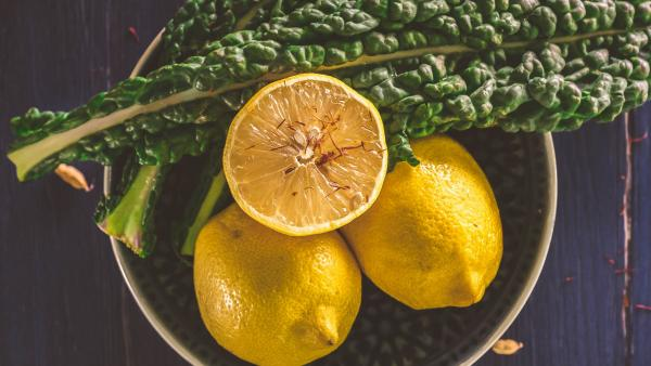 lemon and kale