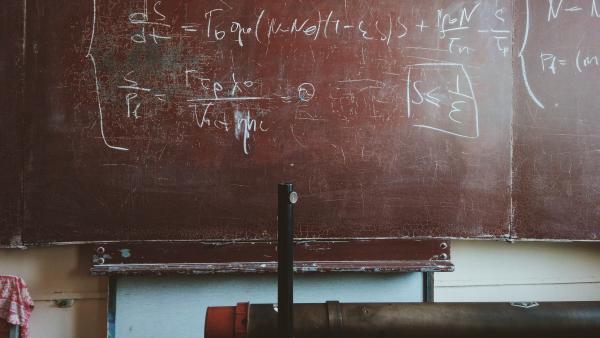 a chalkboard