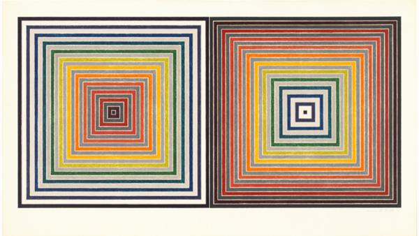 Frank Stella, Double Gray Scramble, 1973. Screenprint on white Arches 88 mould-made paper, 29 x 50 3/4 inches. National Gallery of Art, Washington, Gift of Gemini G.E.L. and the Artist, 1981.5.98 © 2016 Frank Stella / Artists Rights Society (ARS), New Yor