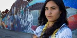 "Student activist and Raza studies student Pricila from the film ""Precious Knowledge."""