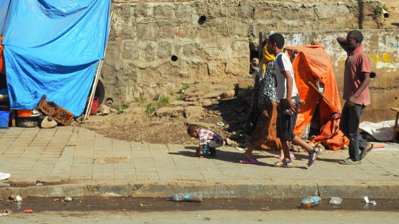 Children in Addis Ababa.