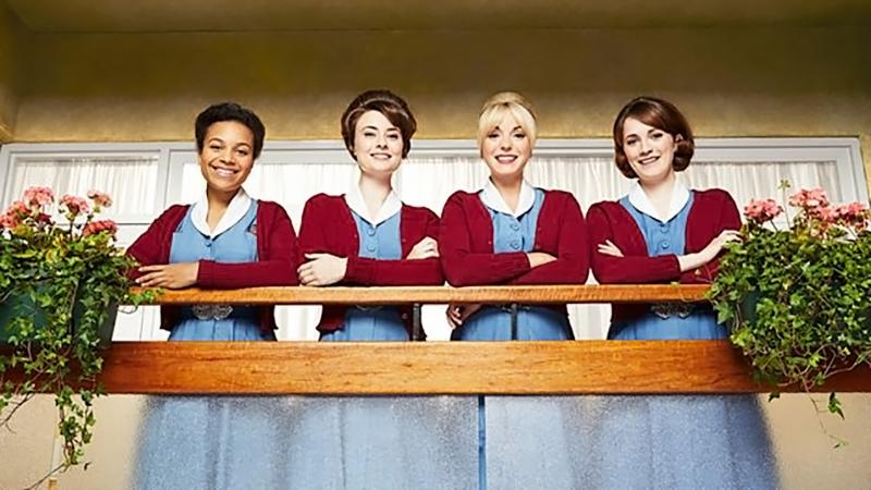 "The midwives of ""Call the Midwife"" (BBC)"