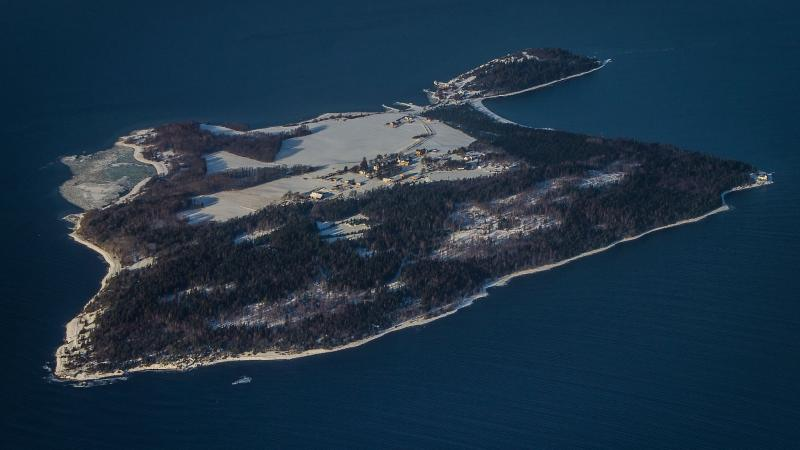 Bastøy Prison from the air