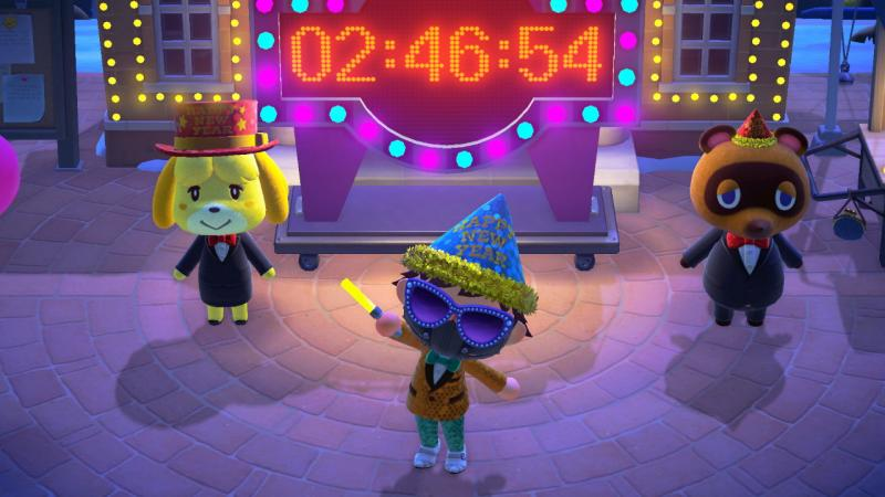 Counting down to 2021 in Animal Crossing.