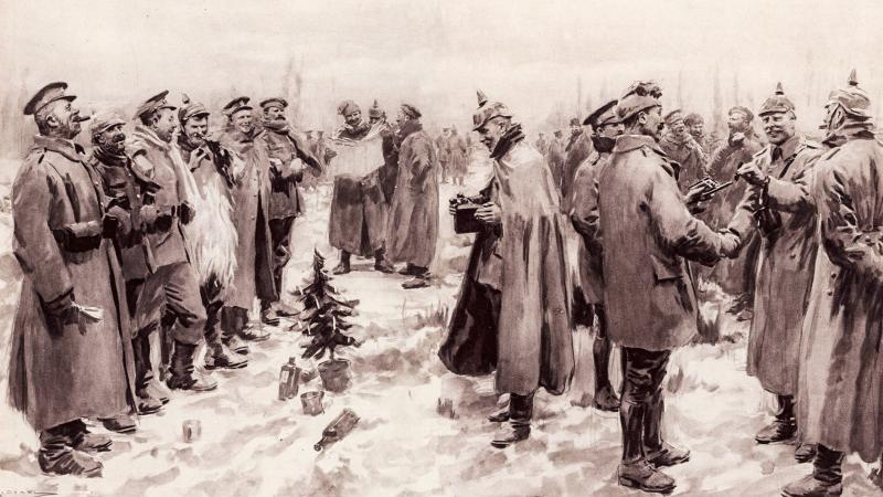 The Illustrated London News's illustration of the Christmas Truce