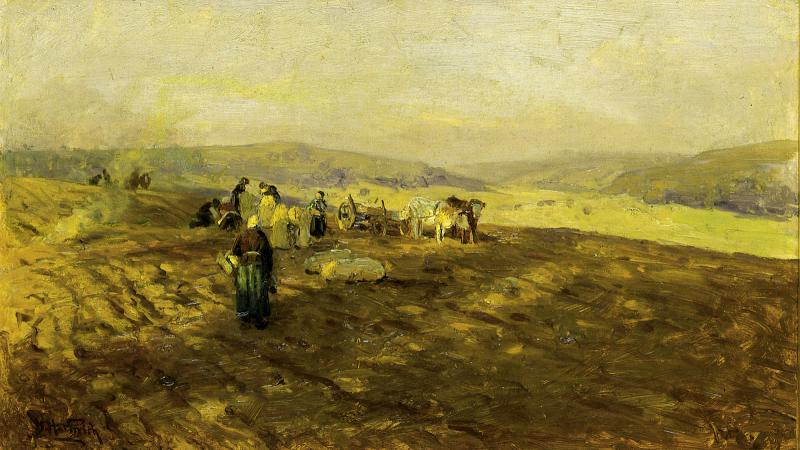 Potato gleaners in France