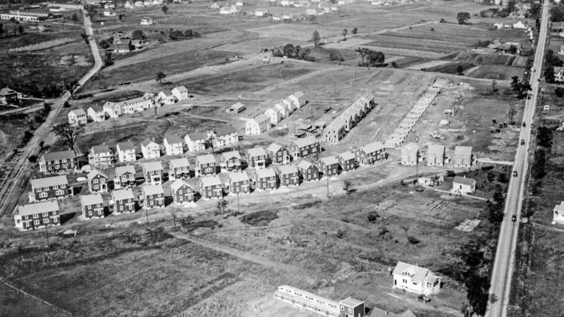 An aerial shot of the Garden Homes neighborhood in Milwaukee.
