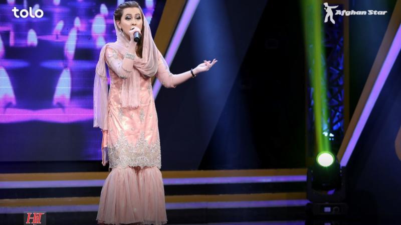 "A performer on ""Afghan Star."""