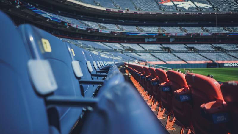 empty Broncos stadium