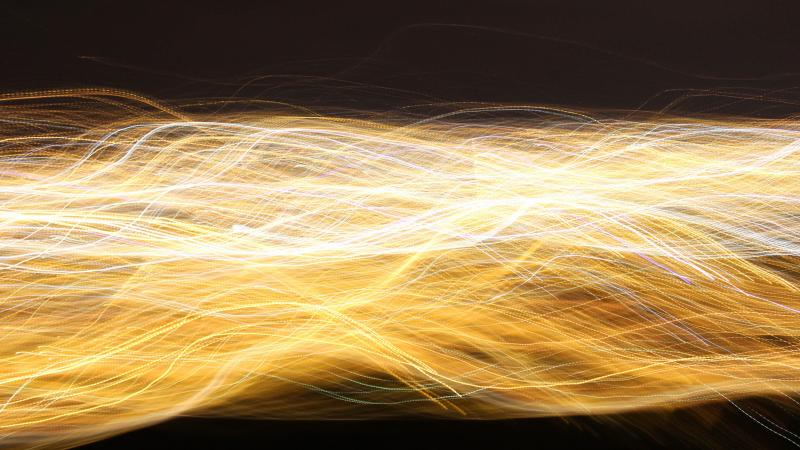 random strands of light