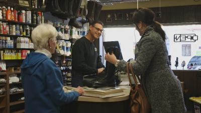 Family-owned shoe store providing customer service