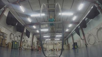 Gymnast on a German Wheel