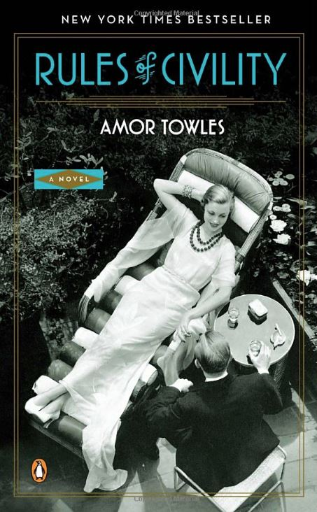 Book cover for The Rules of Civility by Amor Towles