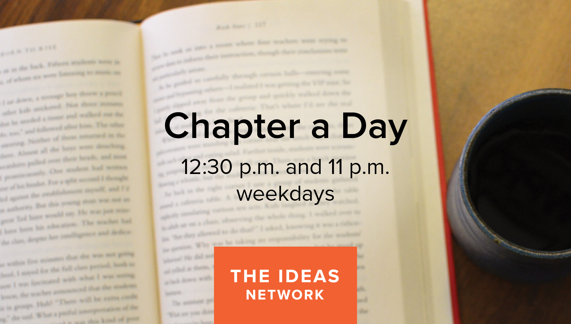 image of a book and the words chapter a day
