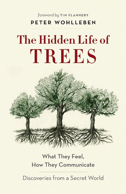 Bookcover for The Hidden Life of Trees by Peter Wohlleben and Jane Billinghurst