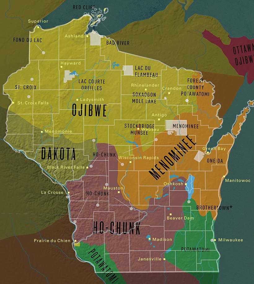Tribal treaty lands in Wisconsin
