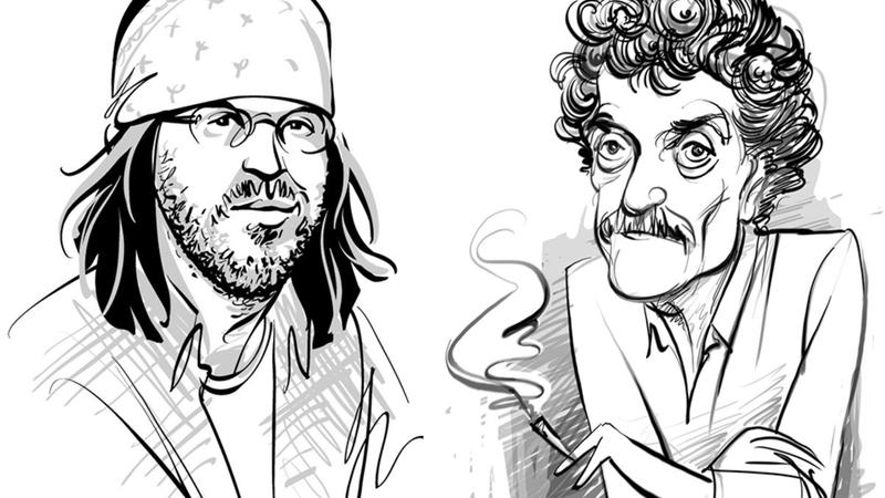 illustrations of david foster wallace and kurt vonnegut