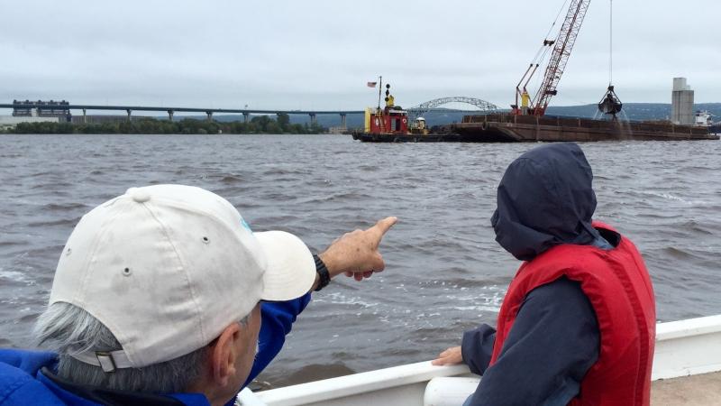 Harbor dredging near the St. Louis River estuary.
