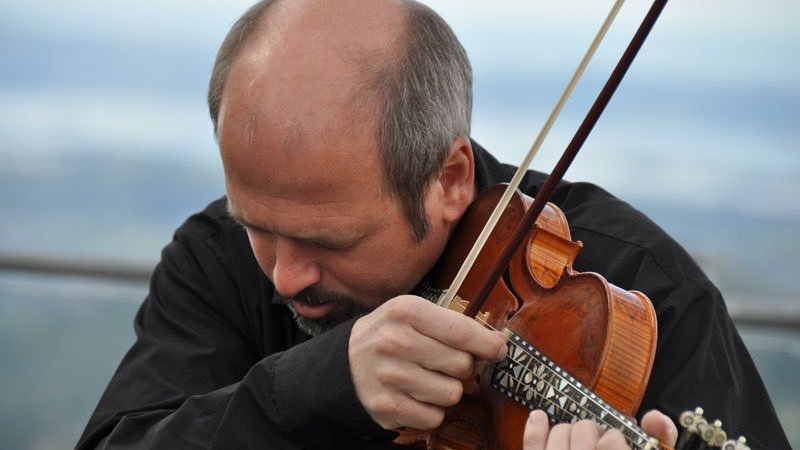Norwegian Hardanger fiddle player