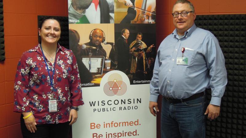 Jen Rombalski and Dr. David Mcnamara
