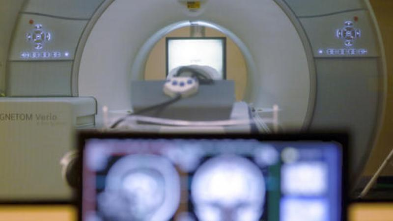A brain-scanning MRI machine at Carnegie Mellon University in Pittsburgh.