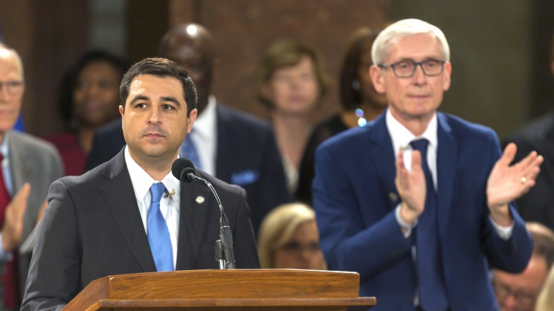 Attorney General Josh Kaul and Governor Tony Evers