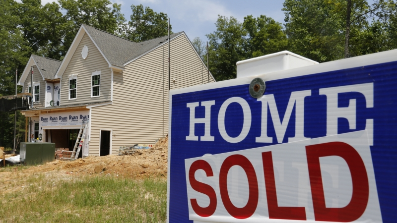 """Home sold"" sign"