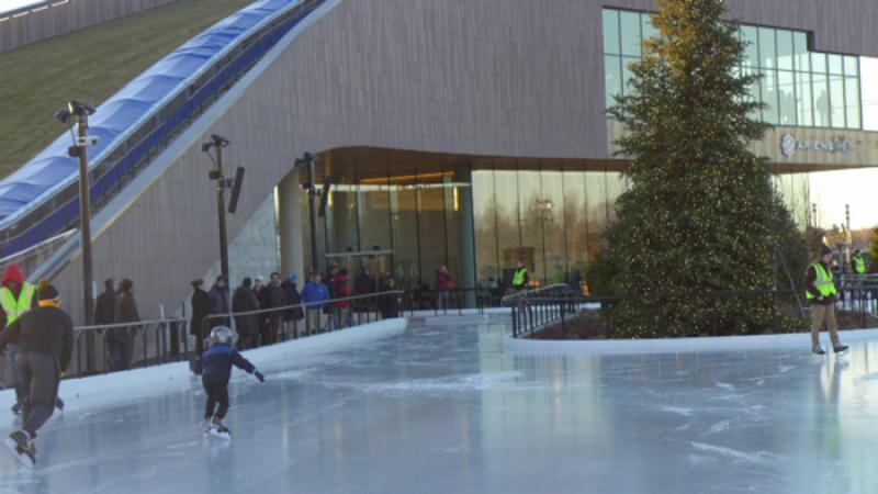Titletown District skating rink