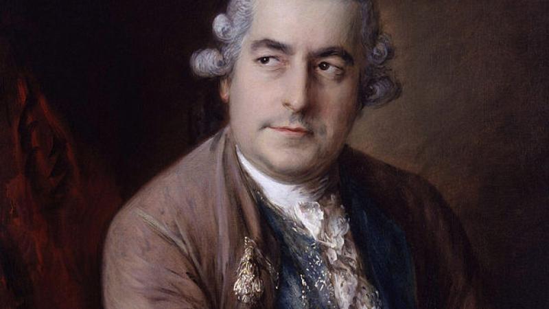 Portrait of opera composer Johann Christian Bach