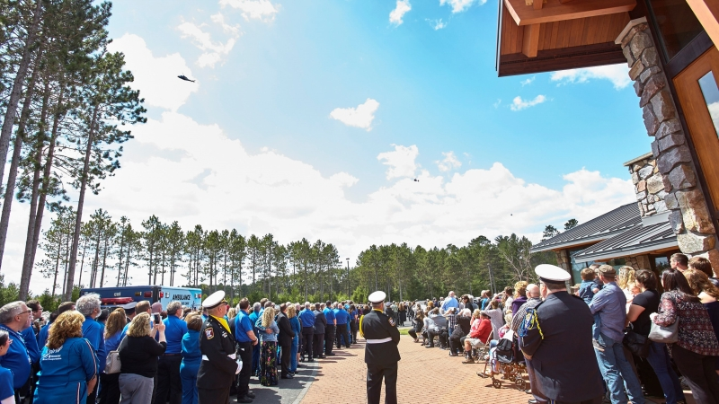 Funeral service for the Spirit 2 crew members killed in an April crash