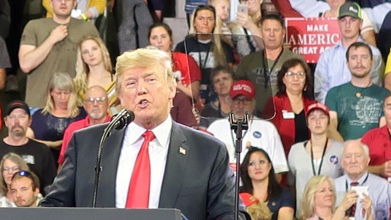 Donald Trump speaking in Duluth