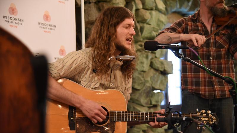 Photo of musician Joseph Huber performing