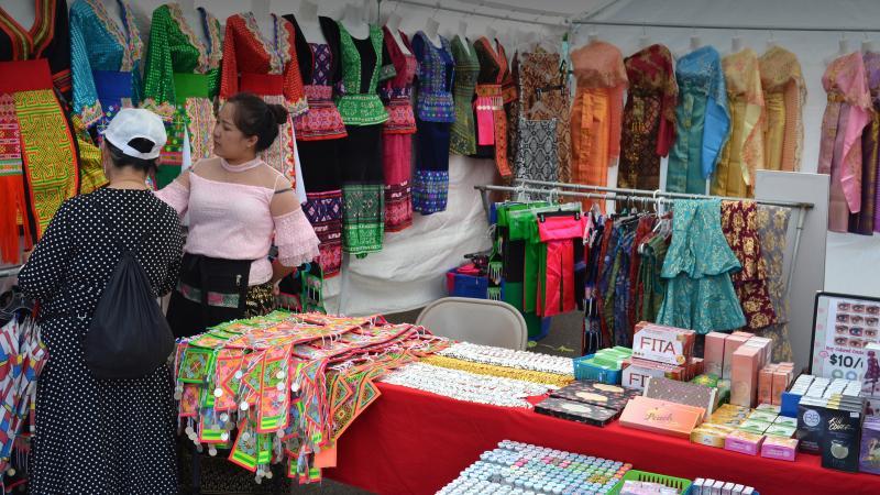 Merchants at the Hmong Wausau Festival