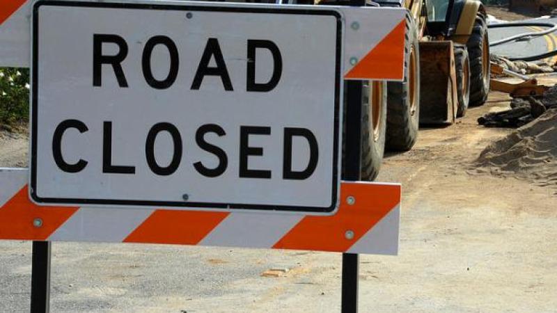 """Road Closed"" sign"