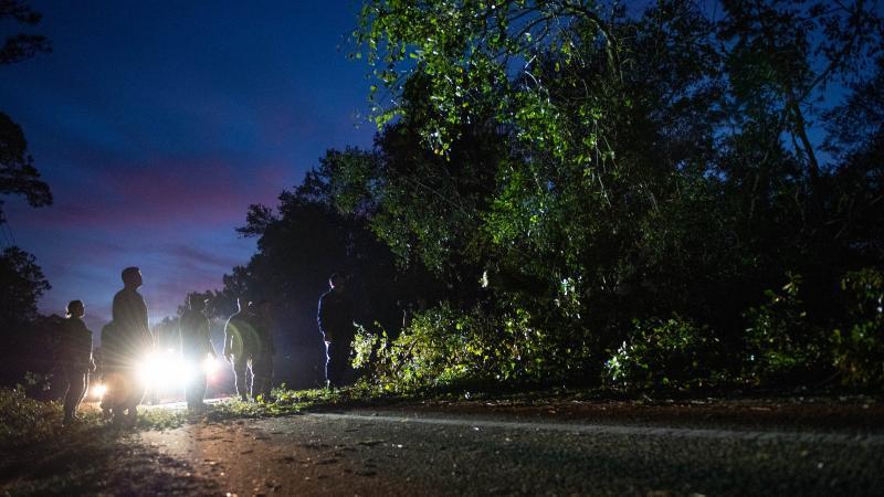 Florida National Guard clear debris from Hurricane Michael