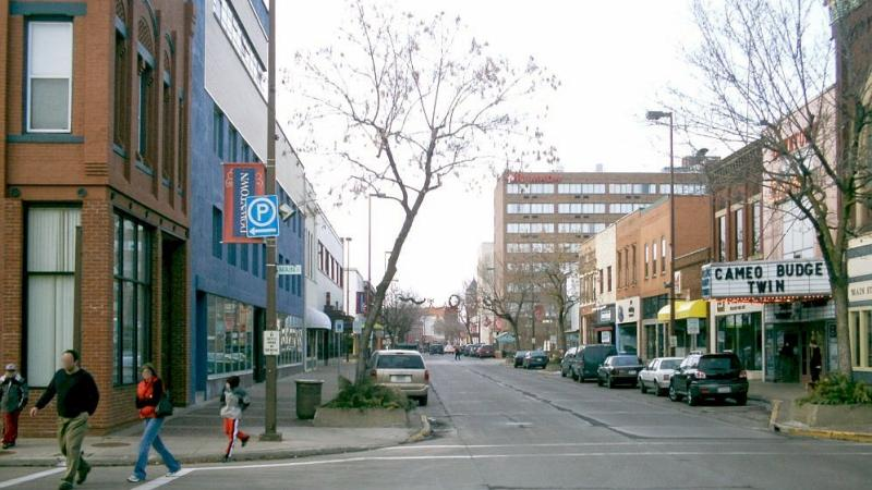 Barstow Street, Eau Claire, Wisconsin, 2005, downtown