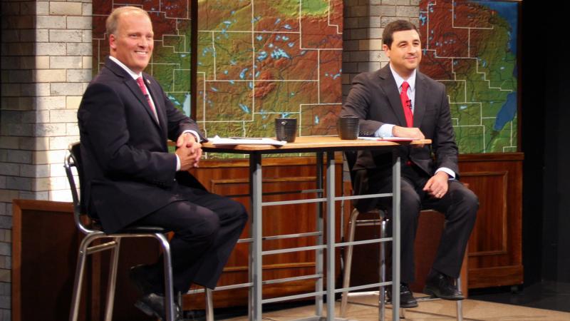 Attorney General Brad Schimeland his Democratic challenger Josh Kaul