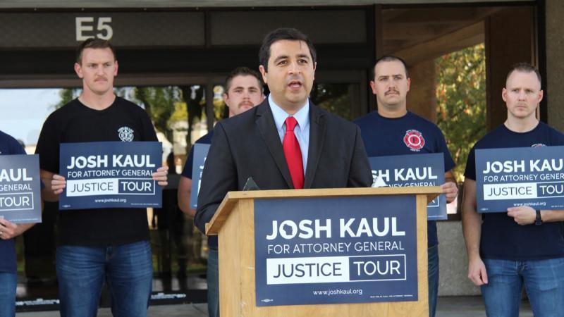 Democratic Attorney General candidate Josh Kaul