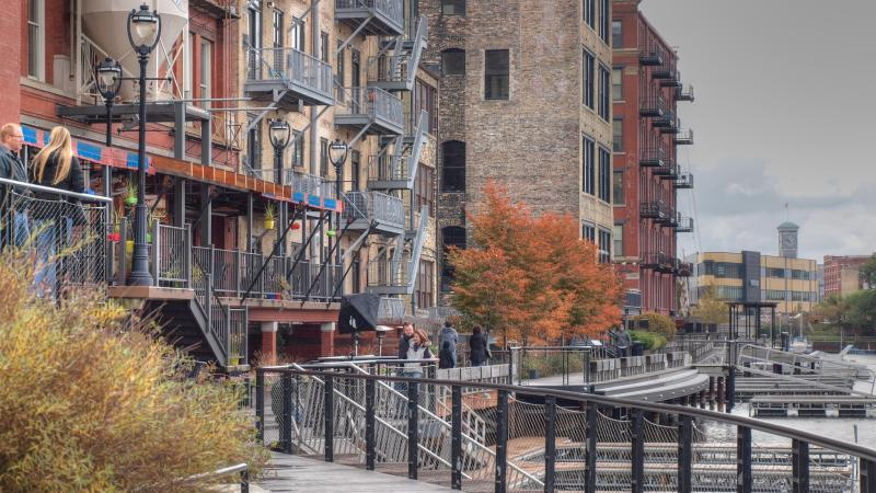 Historic Third Ward River Walk in Milwaukee