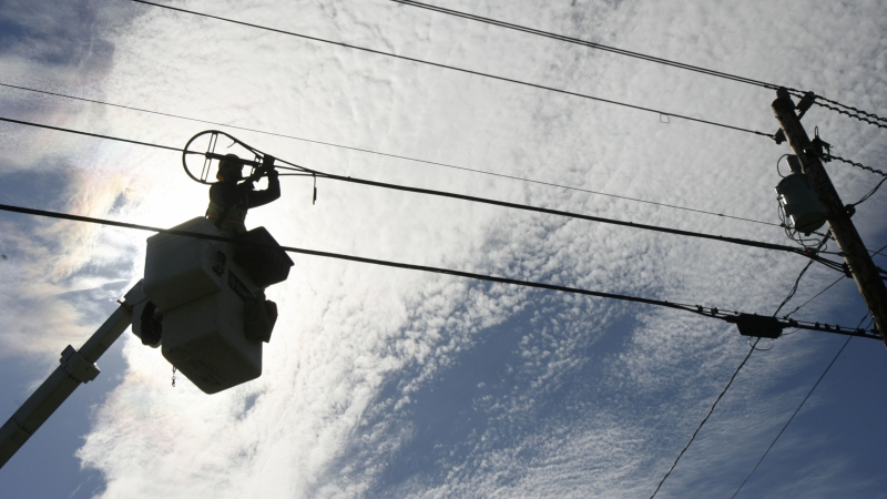 fiber-optic cable installation