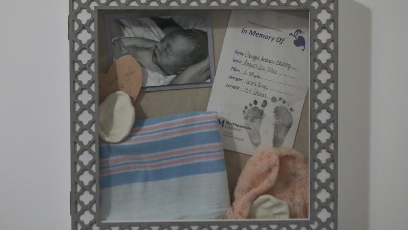 a memory box dedicated to stillborn Sawyer Schmitz