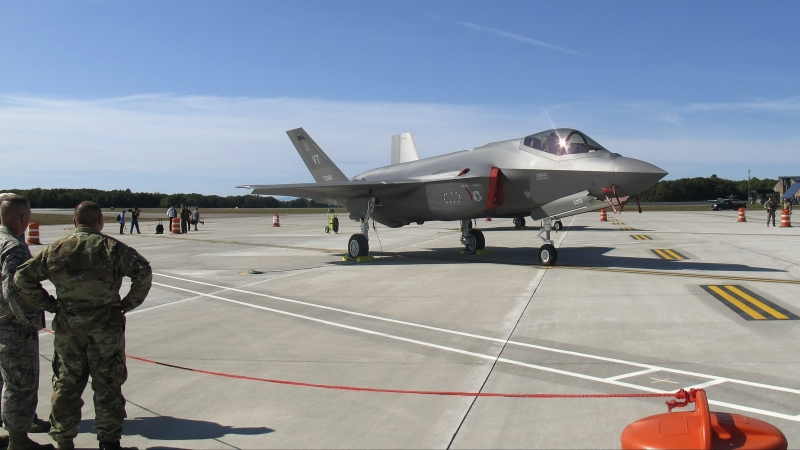 F-35 fighter jet arrives at the Vermont Air National Guard base
