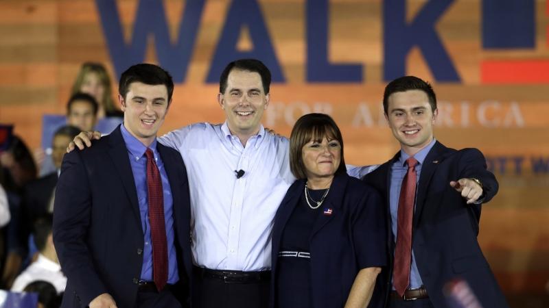 Scott Walker and family