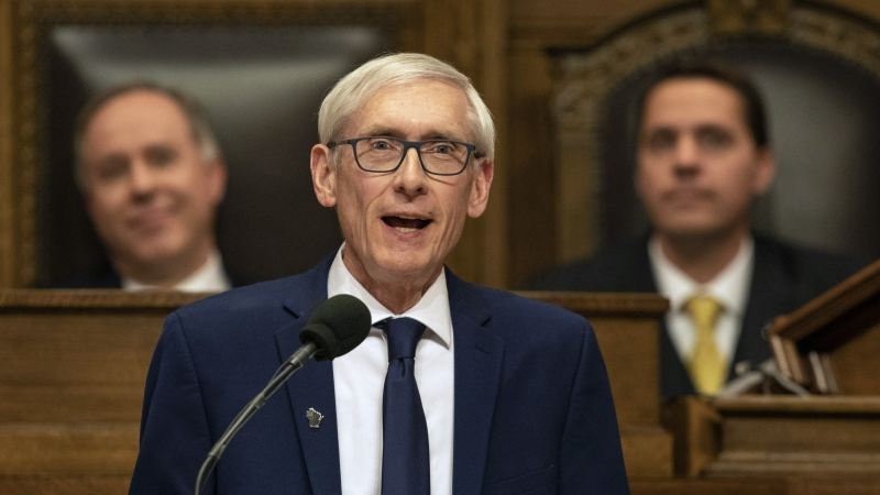 Gov. Tony Evers speaks at the State of the State