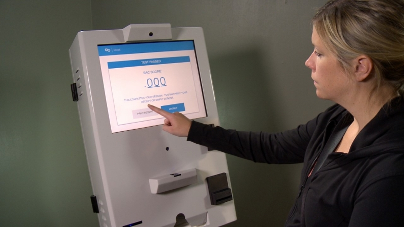 Breathalyzer kiosks allow people to take tests without supervision