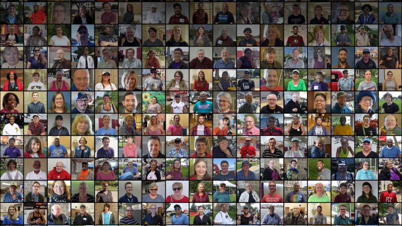 Collage of participants in WPR's Beyond the Ballot