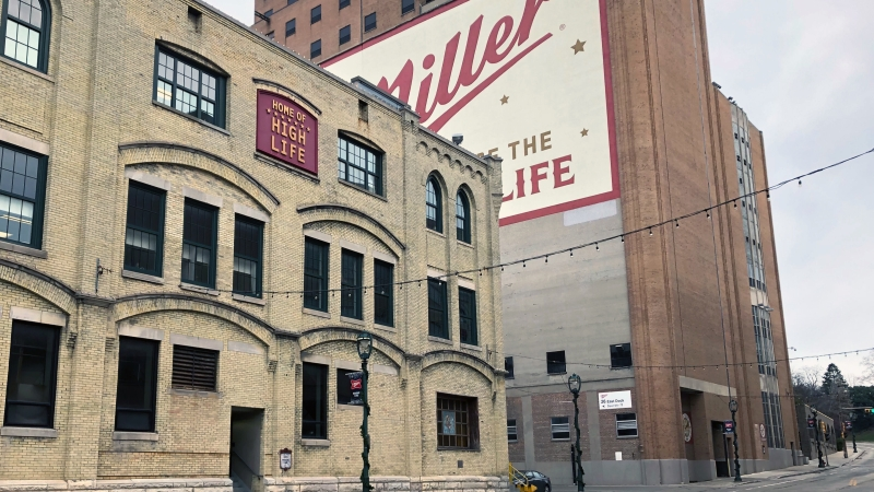 Exterior of Miller brewery