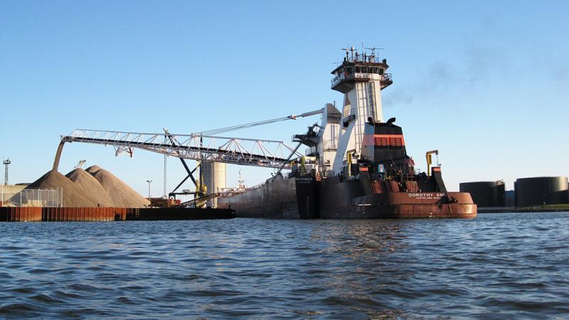 Ship at Port Milwaukee