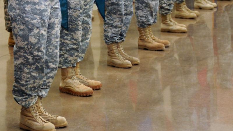 Wisconsin National Guard members standing